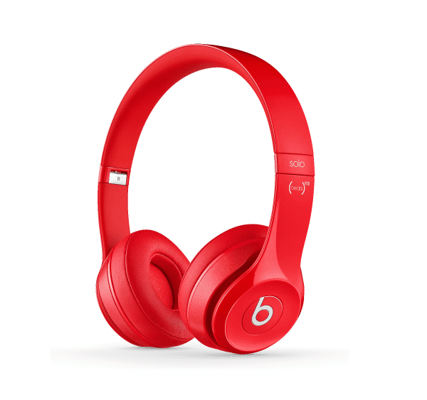 Beats Solo2 Red Headphones Gloss