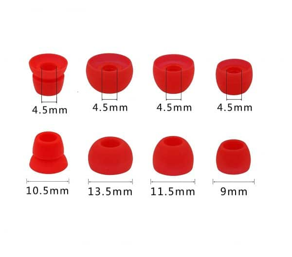 Red Tips Sizes