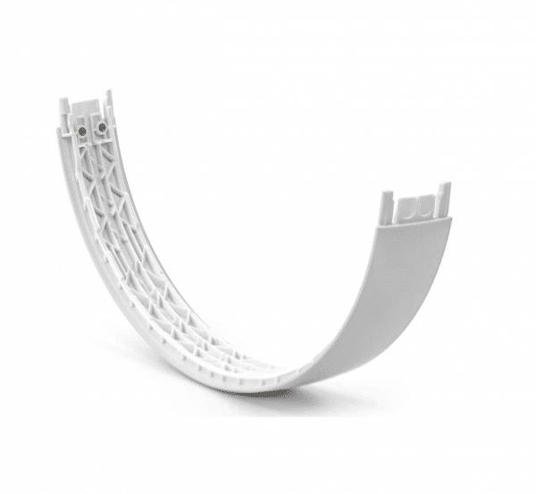 Satin Silver Solo 3 Headband Underside